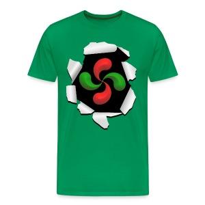 Croix Basque design - T-shirt Premium Homme