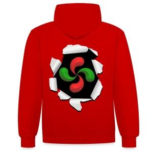 Croix Basque design - Sweat-shirt contraste