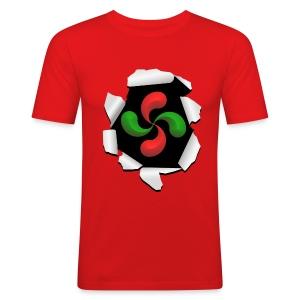 Croix Basque design - Tee shirt près du corps Homme