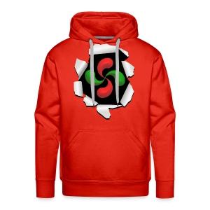 Croix Basque design - Sweat-shirt à capuche Premium pour hommes