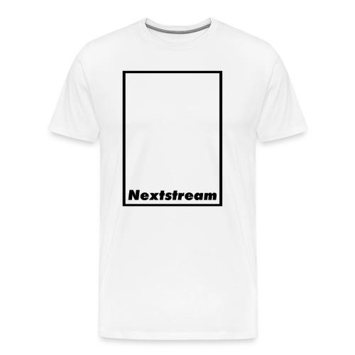 Nextstream White T-Shirt - Premium-T-shirt herr