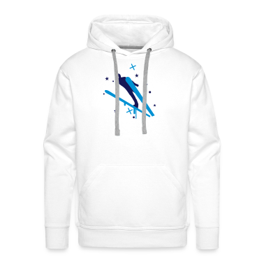 White ski_3 Hoodies & Sweatshirts