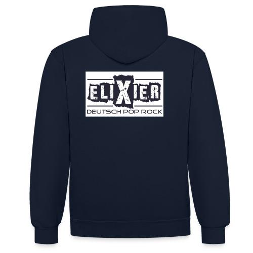Elixier - Damen - Fanpullover - Aufdruck hinten  - Kontrast-Hoodie