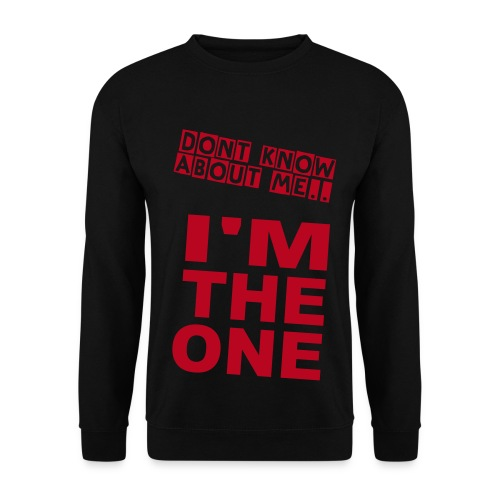 SweathShirt/BLK & RED/Im The One  - Men's Sweatshirt