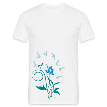 White Orchidee / orchid (2c) Men's T-Shirts