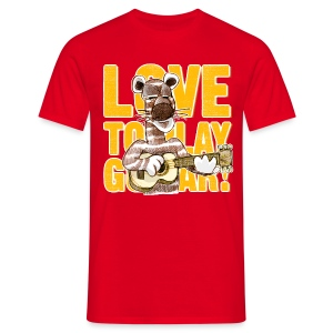love to play guitar - Men's T-Shirt