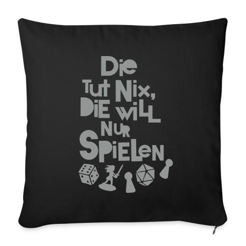 Die tut nix - Kissen Schwarz - Sofakissenbezug 44 x 44 cm