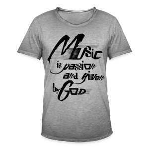 music is passion - Männer Vintage T-Shirt