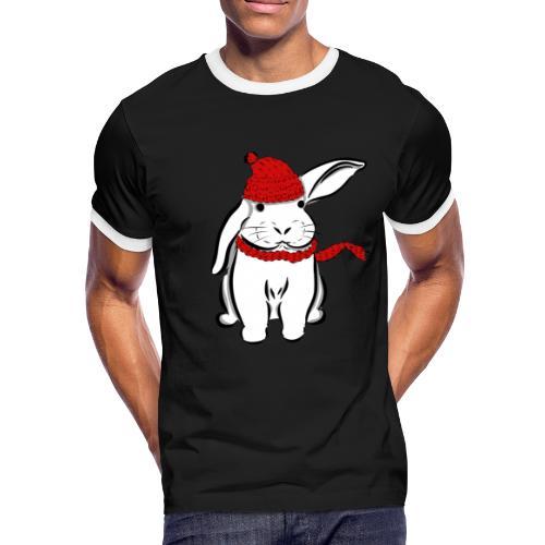 Schneehase - Männer Kontrast-T-Shirt