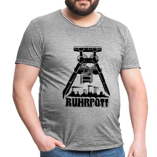 Dirty Ruhrpott Vintage Shirt in Grau - Männer Vintage T-Shirt