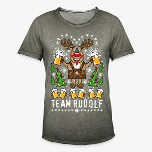 Team Rudolf Rentier Hirsch Rudolph Bier Beer T-Shirt 107 - Männer Vintage T-Shirt