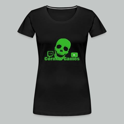 Woman formfit NEW SMILING SKULL! :) - Women's Premium T-Shirt
