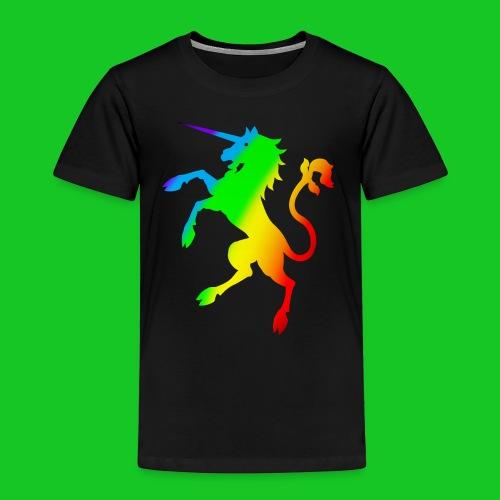 Eenhoorn regenboog kinder t-shirt - Kinderen Premium T-shirt