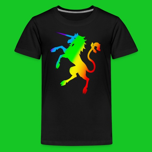Eenhoorn regenboog tenager t-shirt - Teenager Premium T-shirt