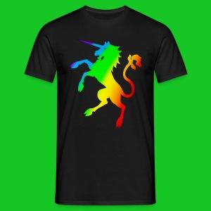 Eenhoorn regenboog heren t-shirt - Mannen T-shirt
