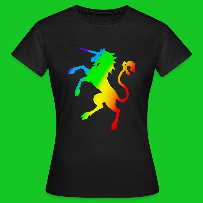 Eenhoorn regenboog dames t-shirt