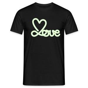glow in the dare (love) - Mannen T-shirt