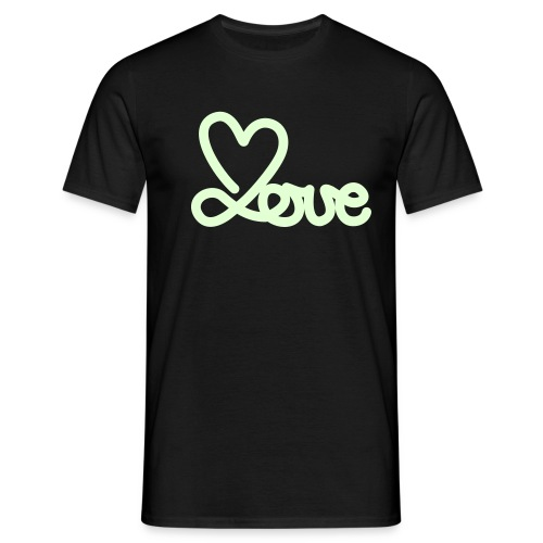 glow in the dare (love) - Mannen T-shirt