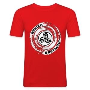 Breizh Bretagne Triskel - Tee shirt près du corps Homme