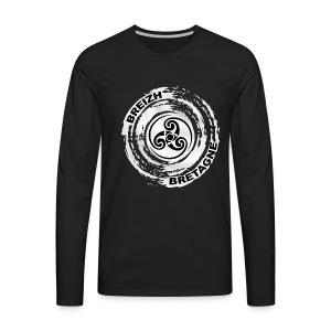 Breizh Bretagne Triskel - T-shirt manches longues Premium Homme