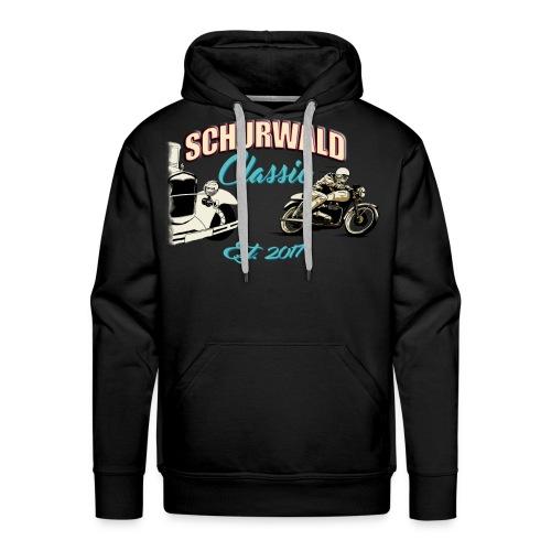Schurwald Classic Hoodie Schwarz im Helfer Design - Männer Premium Hoodie