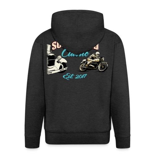 Schurwald Classic Hoodiejacke mit Reisverschluss im Helfer Design - Männer Premium Kapuzenjacke