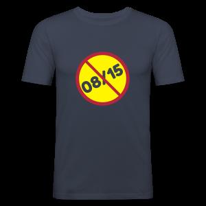 Coole Sprüche -  08/15 Nicht Normal Toleranz T-Shirts - Männer Slim Fit T-Shirt