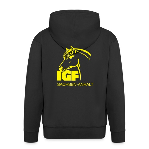 IGF Kapuzenjacke schwarz Herren - Männer Premium Kapuzenjacke