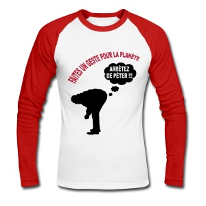 Ecologie humour - T-shirt baseball manches longues Homme
