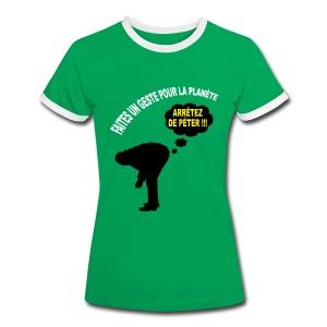 Ecologie humour - T-shirt contrasté Femme