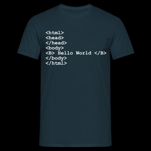 T-Shirt mit Aufdruck Hello World - Männer T-Shirt