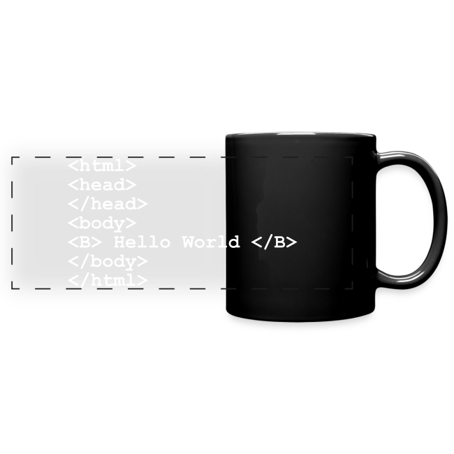 "Tasse mit Aufdruck ""Hello World"""