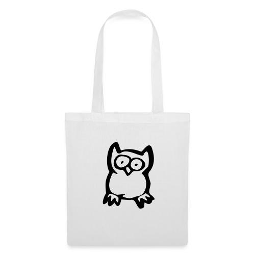 Tote Bag Owl Black - Tote Bag