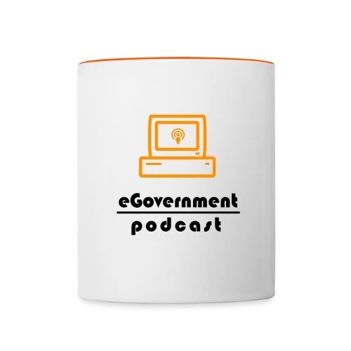 Tasse mit Logo - Tasse zweifarbig
