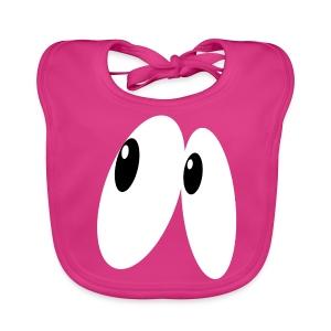 Bio-slabbetje voor baby's - A cute pair of suprised eyes in the dark.