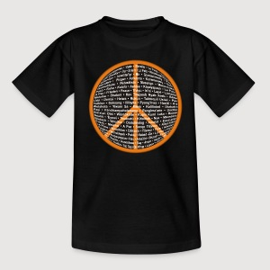 WORLD OF PEACE 3 | Frieden in verschiedenen Sprachen - Teenager T-Shirt