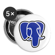 Buttons ~ Buttons medium 32 mm ~ PostgreSQL blue elephant badge