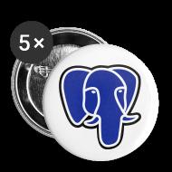 Buttons ~ Buttons medium 32 mm ~ PostgreSQL blue elephant badge