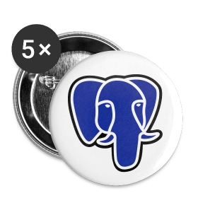 PostgreSQL blue elephant badge ~ 214