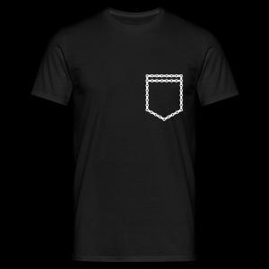 Pocket chain black T-shirt - Koszulka męska