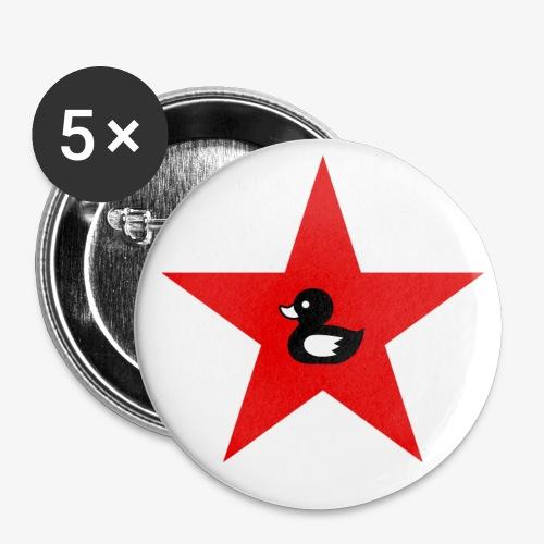 Enten Button - Buttons klein 25 mm (5er Pack)