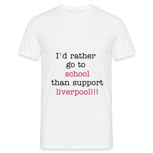 anti-liverpool - T-skjorte for menn