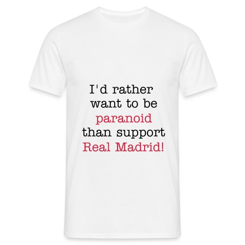 anti-real madrid - T-skjorte for menn