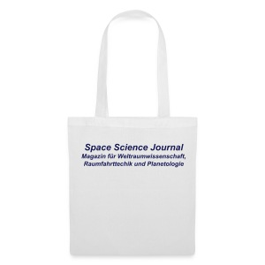 Space Science Journal Tasche, weiß - Stoffbeutel