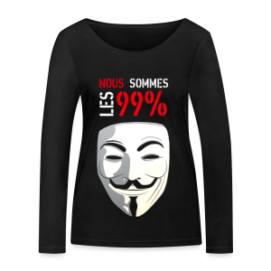 99% anonymous FACE - T-shirt manches longues bio Stanley & Stella Femme