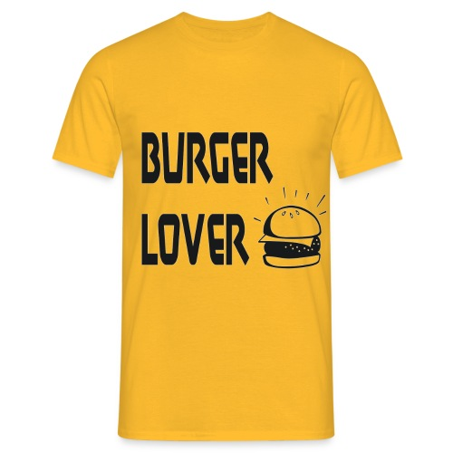 Burger Lover [Black] - Männer T-Shirt