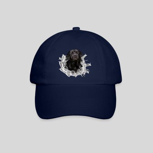 Labrador Schwarz im Glasloch - Baseballkappe