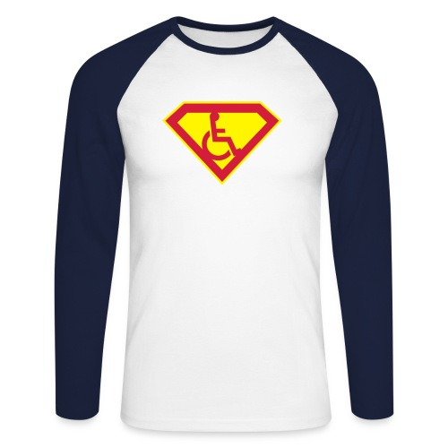 Superhero - Men's Long Sleeve Baseball T-Shirt