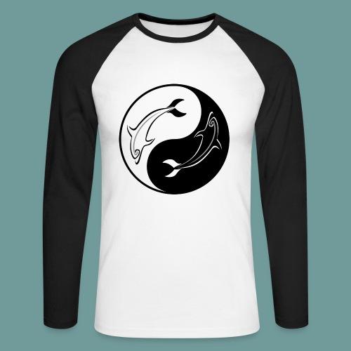 T-shirt Yin Yang - T-shirt baseball manches longues Homme