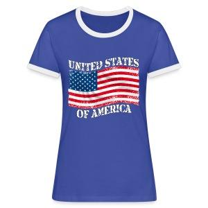 USA United States - T-shirt contrasté Femme